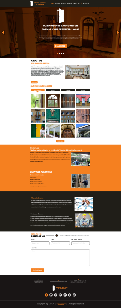 Windows And Doors By Shoshanna & Door and Window Company Digital Marketing Services